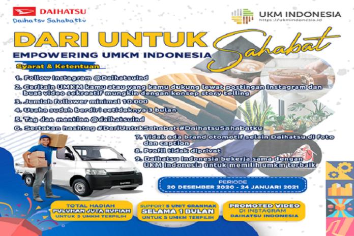 Daihatsu Gandeng Influencer Medsos Bagikan Modal Usaha dan Mobil Untuk UMKM