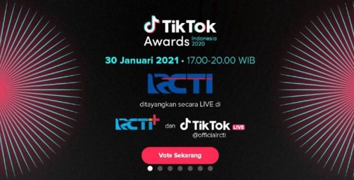 RCTI dan TikTok Gelar TikTok Awards Indonesia 2020
