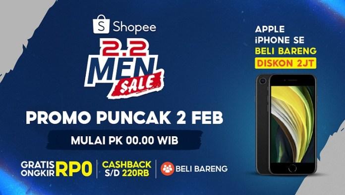 Shopee Gelar Puncak Promo bagi Pria Lewat Shopee 2.2 Men Sale