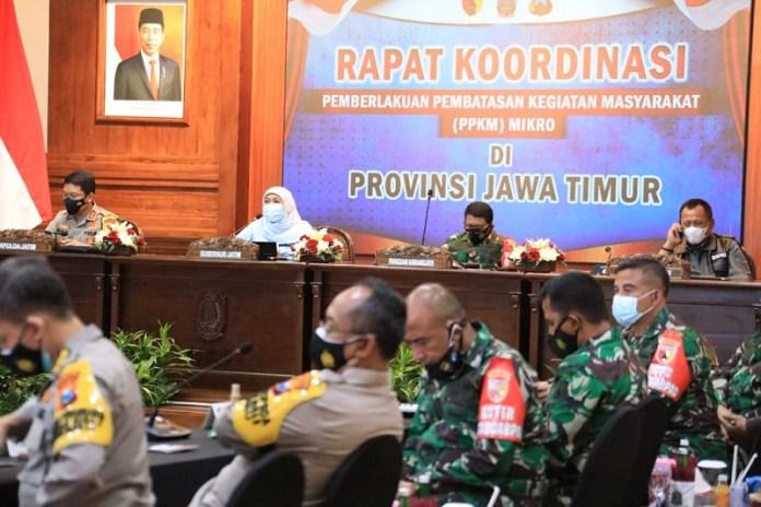 Seluruh Kab/Kota Jatim Akan Lakukan PPKM Berbasis RT/RW Berdasarkan Zonasi Mulai Hari Ini