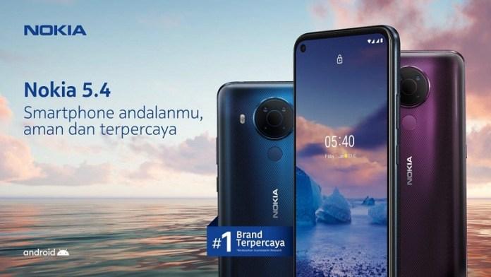 Nokia 5.4. Resmi Hadir di Indonesia