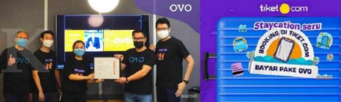 OVO Gandeng Tiket.com, Incar Kemudahan Staycation di Era New Normal