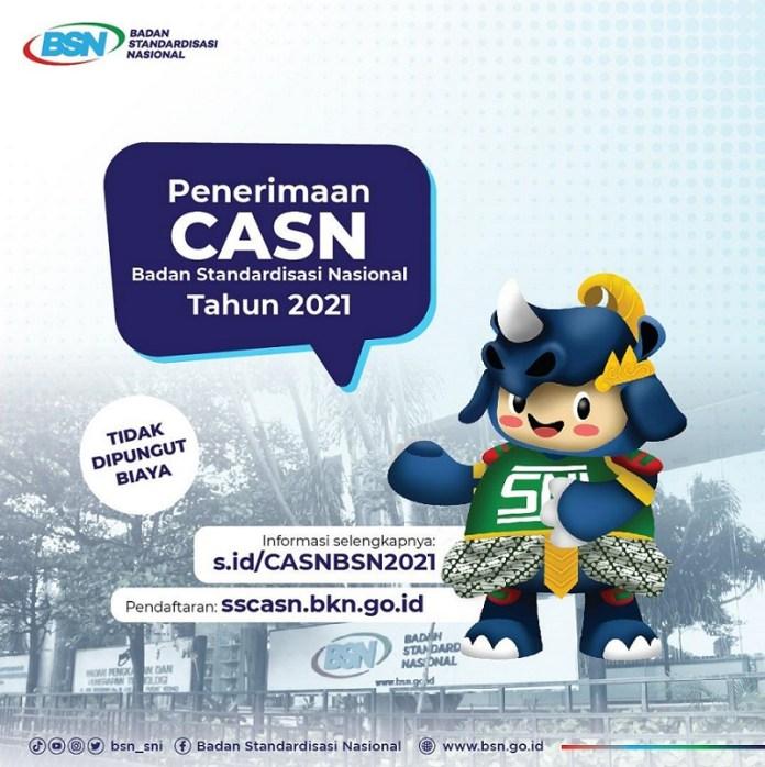 BSN Buka Formasi CASN Tahun 2021