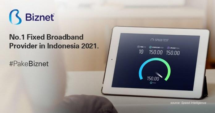 Biznet Kembali Jadi Provider Internet Tercepat di Indonesia Versi Speedtest