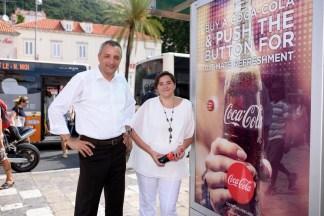 Dinko Ivan Dogan, generalni direktor Europlakata; Vesna Vlahović Dašić, direktorica marketinga Coca-Cola Adria