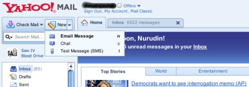 New Menu On Sent Message