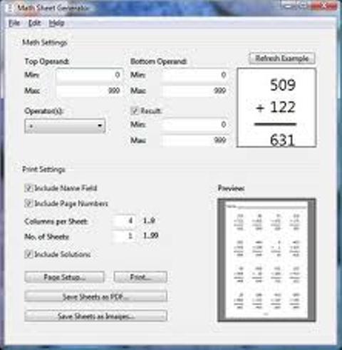 MathSheet Generator 1.3.0