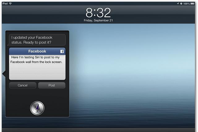 Tweet or post to facebook from Siri - 2