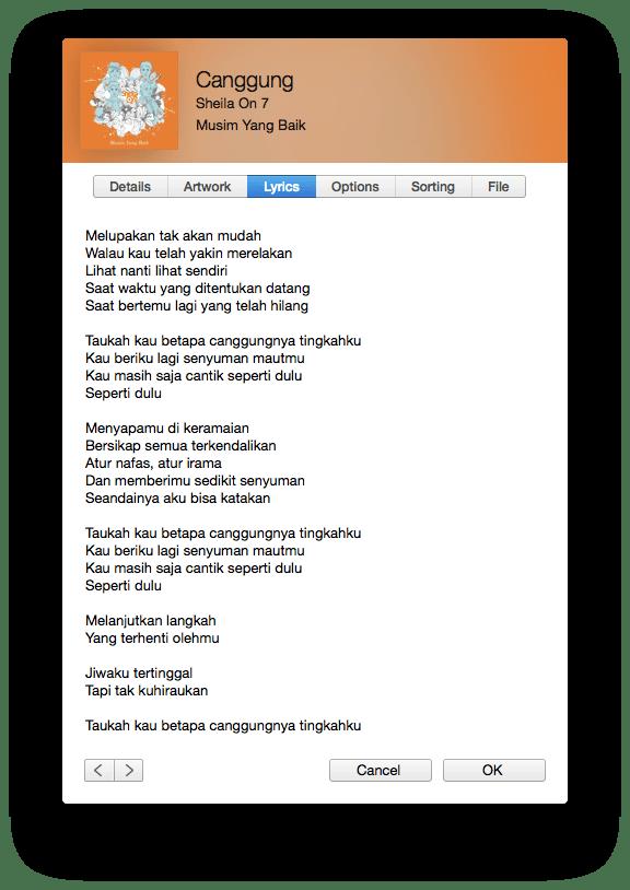 Lirik Canggung Sheila On 7 Musim Yang Baik