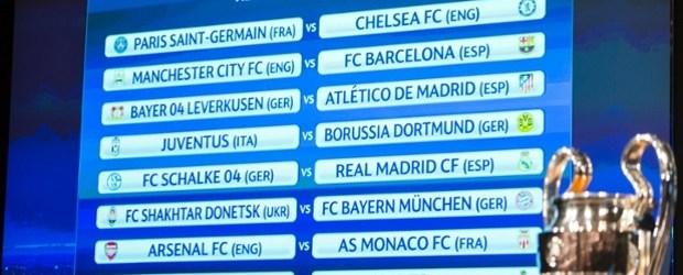 Liga Champion, 16 Besar, Barcelona, Real Madrid, PSG, Chelsea