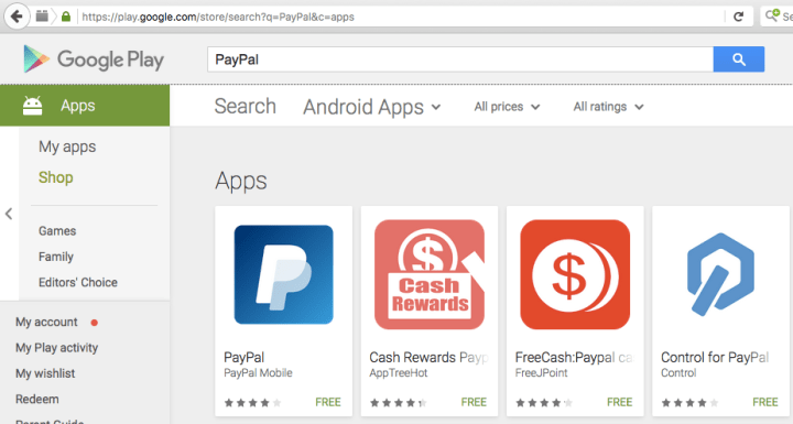 Aplikasi PayPal Android di Google Play Indonesia