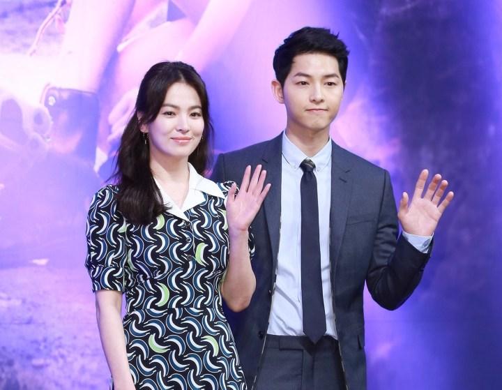 Foto Song Hye Kyo dan Song Joong ki Rilis Korean Drama Descendants of the Sun