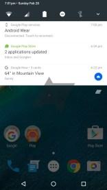 Notification Menu Android N