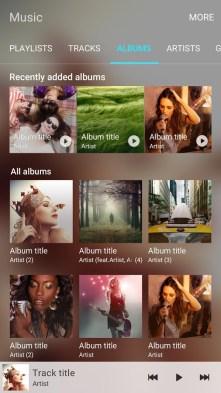 Samsung Music di Samsung Galaxy S7 Album
