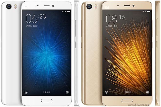 Xiaomi Mi 5 white and Gold color