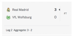 Hasil Liga Champions Real Madrid vs Wolfsburg 2016
