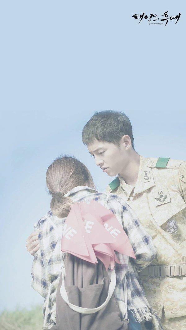 Wallpaper Smartphone Kapten Yo Si Jin dan Dr. Kang Moyeon Love