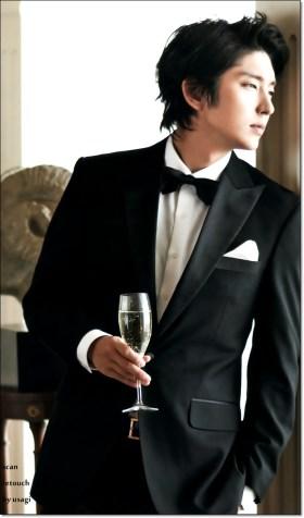 Lee Joon Ki Wearing a Black Suit