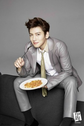 Ji Chang Wook Has a Meal in a Photoshoot