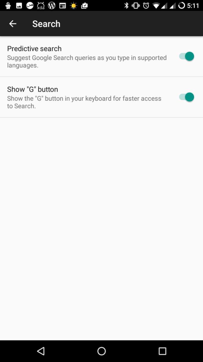 G Button Di Gboard Android