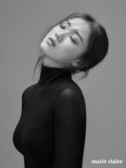 Lee Sung Kyung Photoshoot Black And White In Marie Claire