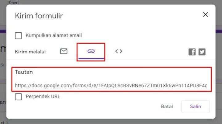 Cara Mendapatkan Link Google Form