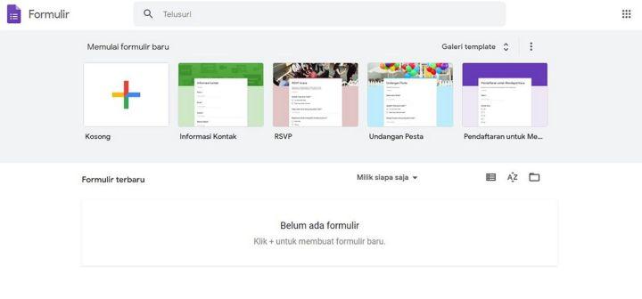 Tampilan Awal Google Form