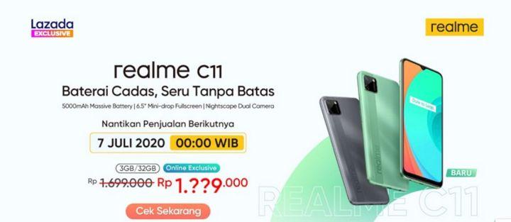 Realme C11 Kembali Adakan Flash Sale