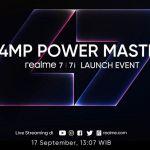 Realme Konfirmasi Tanggal Peluncuran Realme 7