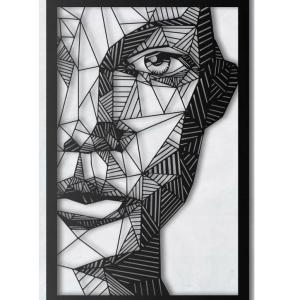 ažūrinis paveikslas moters veidas