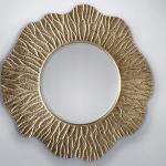 veidrodis apvalus auksas 110cm