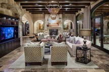 Transitional Tuscan Living Room