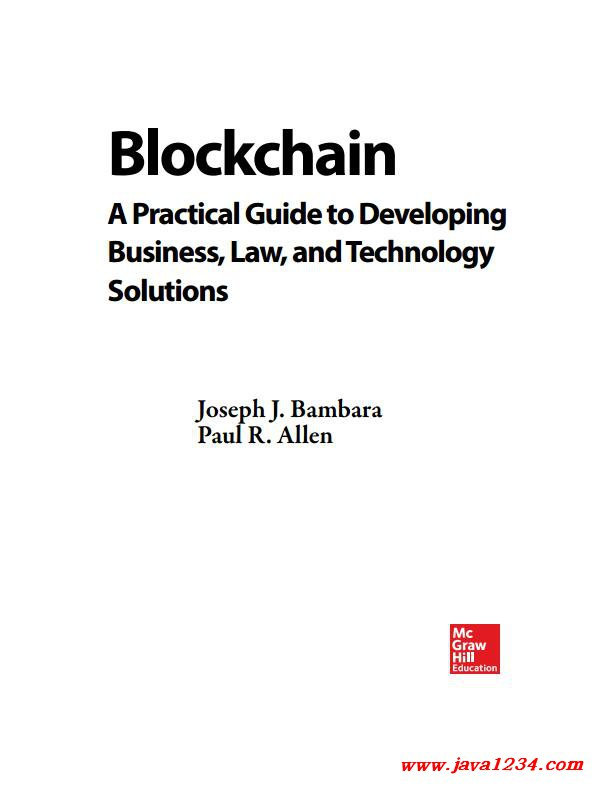 Blockchain. A practical Guide to Developing Business, Law