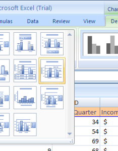 Click the more list arrow in chart layouts group layout also apply  format style microsoft office rh java