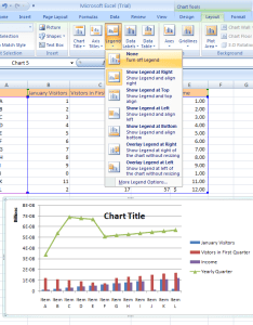 Select the chart click layout tab under tools legend button also excel change rh excel spot
