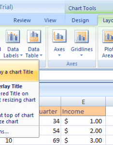 Select the chart click layout tab under tools titles button also excel change title rh excel spot