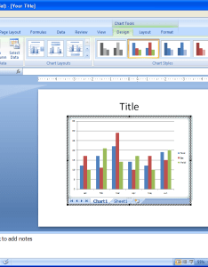 When you  re done click outside the object also insert  new excel chart collaboration word slides rh java