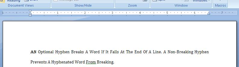 word: ruler in microsoft word 2016