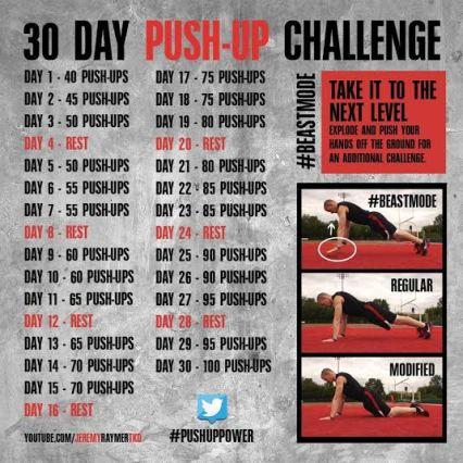push up 30 challenge