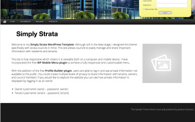 Simply Strata WordPress Theme