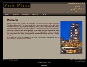 Park Plaza Website