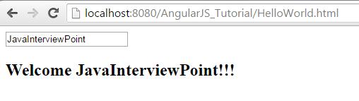 AngularJS Hello World Example
