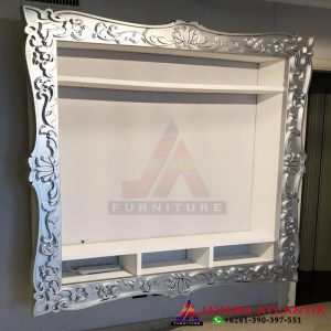 Frame Bufet Backdrop Tv Ukiran Modern