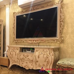 Kabinet Bufet Backdrop Tv Ukiran Modern