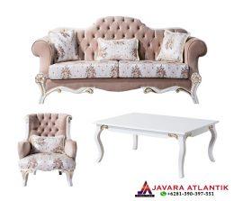 Konsep Perabotan Ruang Tamu Dengan Kursi Sofa Mewah | Set Kursi Tamu Ukiran Mewah Javara Klasik