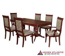 Jasa Pembuatan Set Meja Makan Klasik Minimalis Jati Furniture Jepara Dengan Kualitas Terbaik