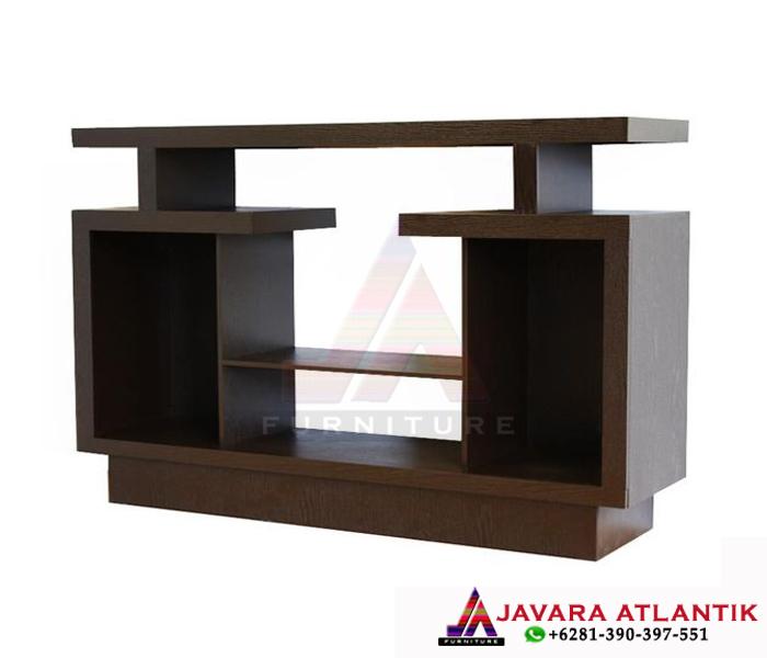 Bufet Tv Jati Minimalis Simpel Modern Model Rak Tv