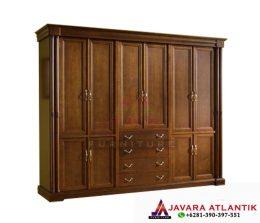 Jasa Produksi Lemari Pakaian Furniture Jepara Berkualitas | Lemari Pakaian Jati Natural Minimalis