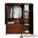 Jual Lemari Pakaian Minimalis Jati Natural Furniture Jepara Best Quality