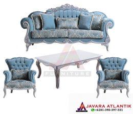 Furniture ruang tamu dengan desain klasik mewah | Set Kursi Ruang Tamu JA070 Ukir Mewah